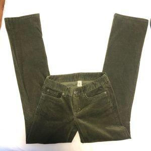 JCrew Corduroy Green pant